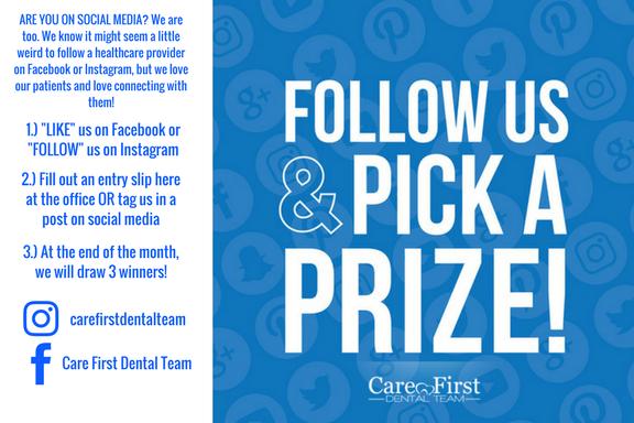 Follow Us On Social Media! - Care First Dental Team